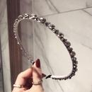 Imitated crystalCZ Korea Geometric Hair accessories  black  Fashion Jewelry NHSM0410black