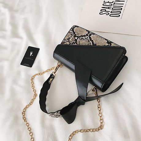 Polyester Korea  Shoulder Bags  (black)  Fashion Bags NHTC3326-black