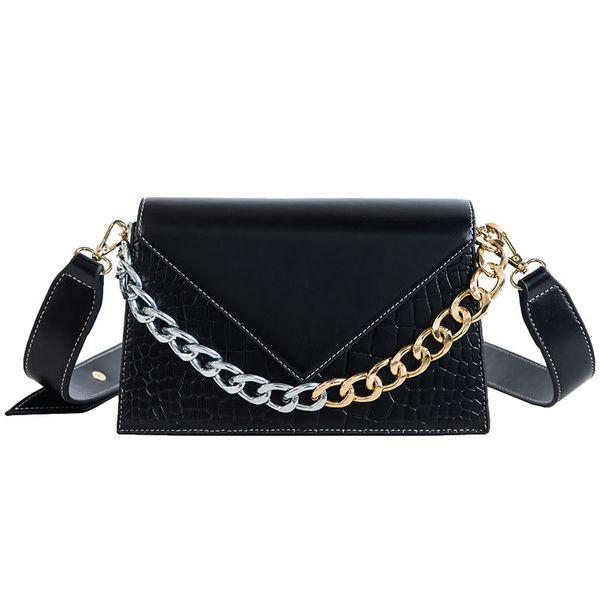 PU Fashion  Shoulder Bags  (black)  Fashion Bags NHPB10797-black