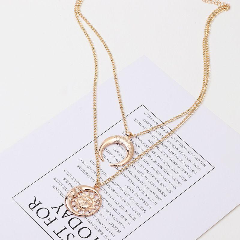 Alloy Fashion Geometric necklace  (Alloy)  Fashion Jewelry NHNZ1366-Alloy