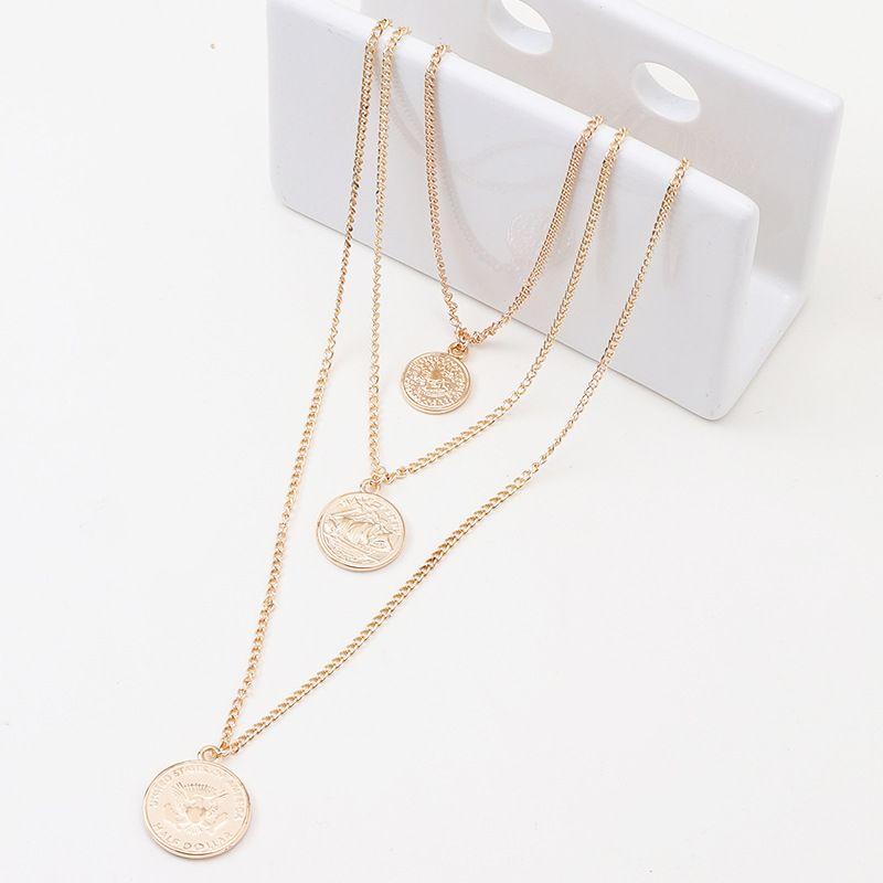 Alloy Fashion Geometric necklace  (Alloy)  Fashion Jewelry NHNZ1371-Alloy