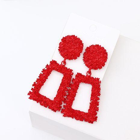 Boucle d'oreille géométrique Fashion en alliage (rouge) Bijoux fantaisie NHNZ1375-rouge's discount tags
