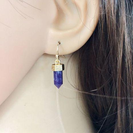 Boucle d'oreille Fashion acrylique (violet) Bijoux fantaisie NHOM1703-violet's discount tags