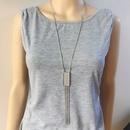 Alloy Fashion Tassel necklace  White alloy  Fashion Jewelry NHOM1639Whitealloy