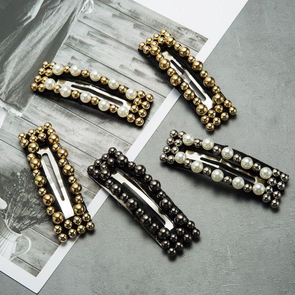 Womens Geometric Beads Imitation Beads Hair Accessories JE190410116458