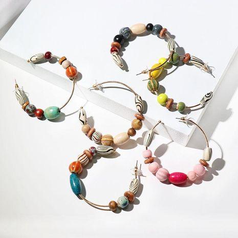 Womens Geometric Wood Alloy Earrings JJ190410116607's discount tags