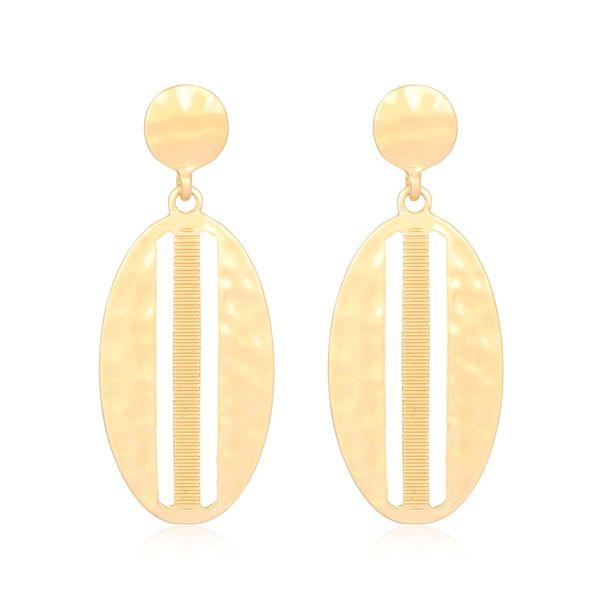 Womens Leaf Plating Metal Earrings CT190410116621