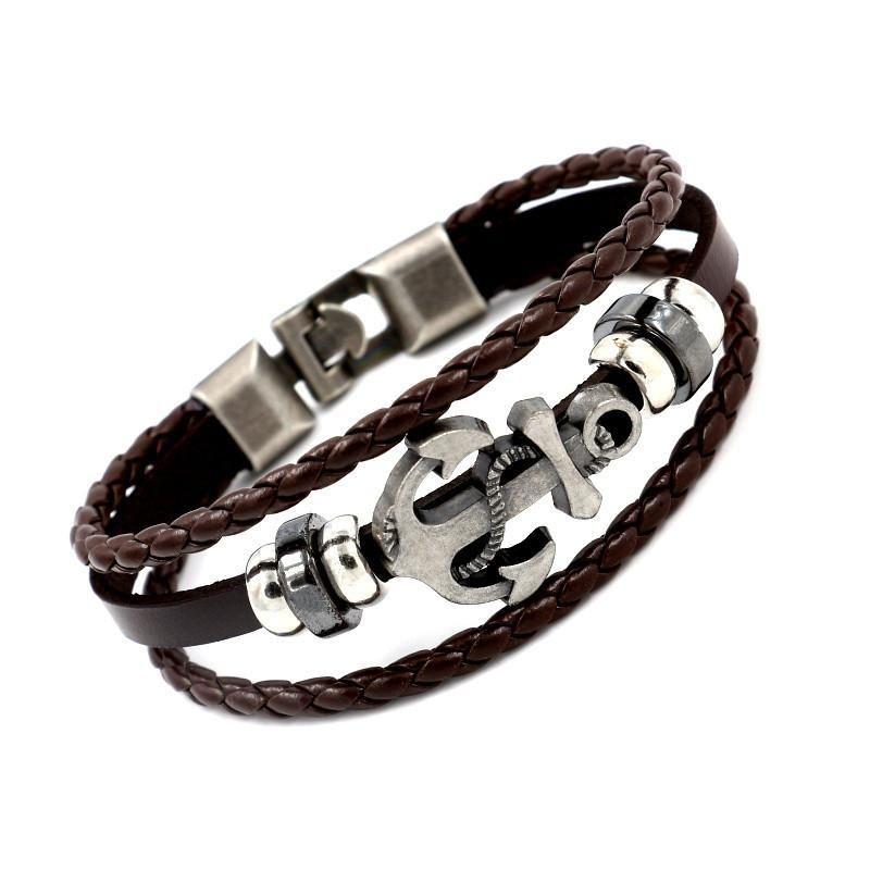 Mens geometric other leather Bracelets & Bangles HM190411116671