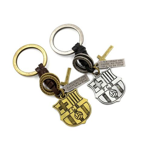 FCB team leather braided keychain HM190411116684's discount tags