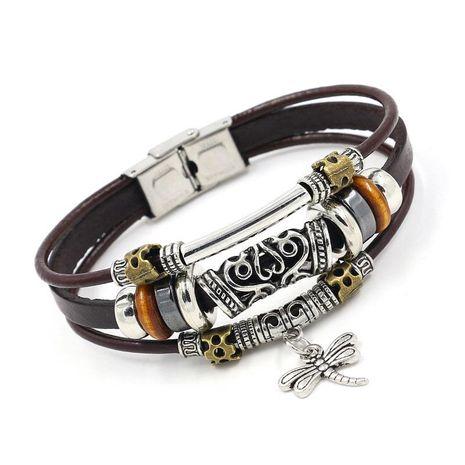 Unisex geometric leather Bracelets & Bangles HM190411116685's discount tags