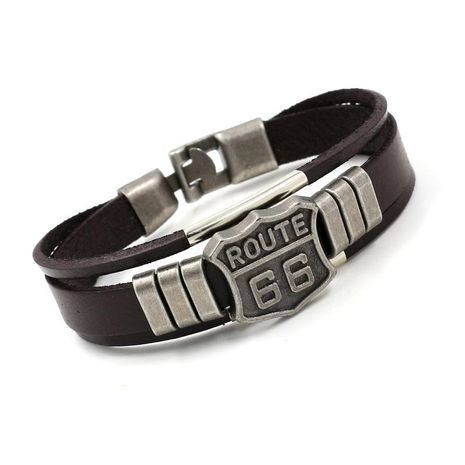 Mens Alphabet / Number / Text Leather Bracelets & Bangles HM190411116686's discount tags