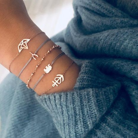 Womens Elephant Crown Plating Alloy Bracelets & Bangles BQ190411116687's discount tags