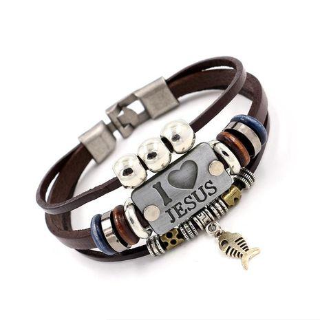 Unisex Geometric Beaded Leather Bracelets & Bangles HM190411116693's discount tags