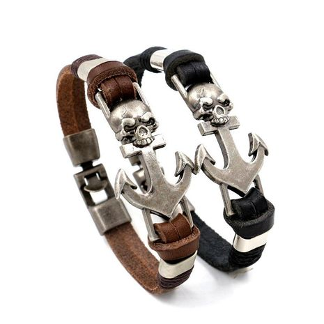 Mens geometric other leather Bracelets & Bangles HM190411116697's discount tags
