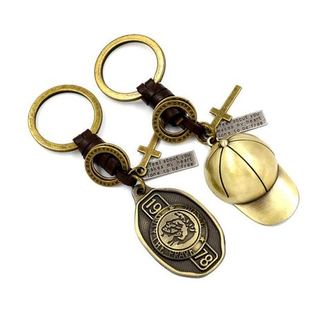 Creative metal hat key pendant metal HM190411116705's discount tags