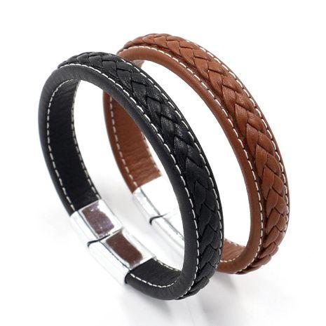 Mens Geometric Leatherette Bracelets & Bangles HM190411116710's discount tags
