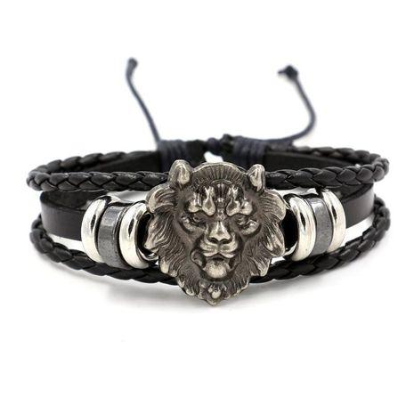Mens Animal / Zodiac Woven Leather Bracelets & Bangles HM190411116716's discount tags