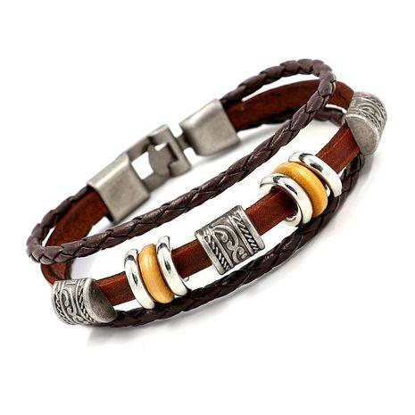 Unisex Geometric Braided Leather Bracelets & Bangles HM190411116717's discount tags