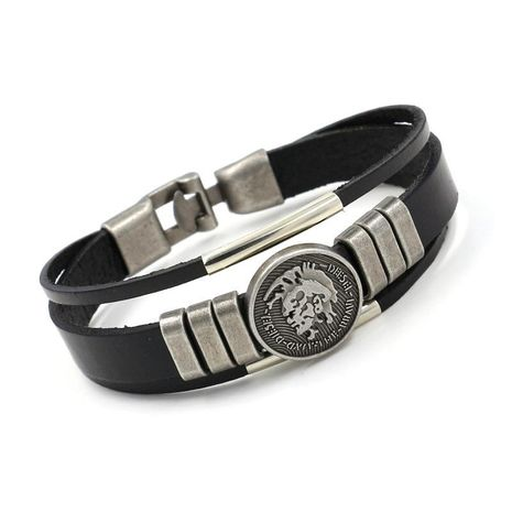 Mens Character Leather Rivet leather  Bracelets & Bangles HM190411116718's discount tags