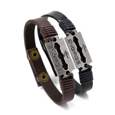 Mens geometric other leather Bracelets & Bangles HM190411116721's discount tags