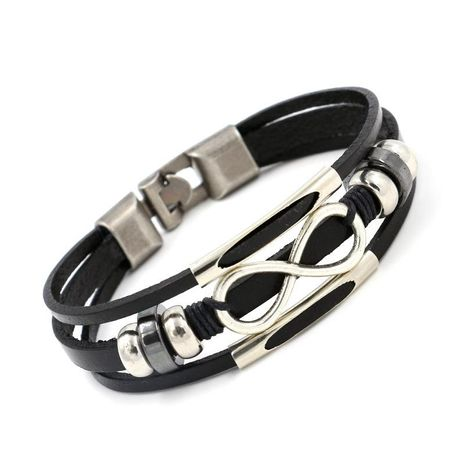 Unisex Letters/Numbers/Text Other Leather Bracelets & Bangles HM190411116724's discount tags
