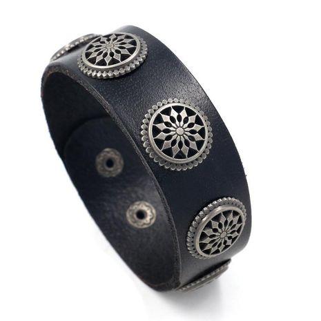 Mens Geometric Leather Rivet leather Bracelets & Bangles HM190411116729's discount tags