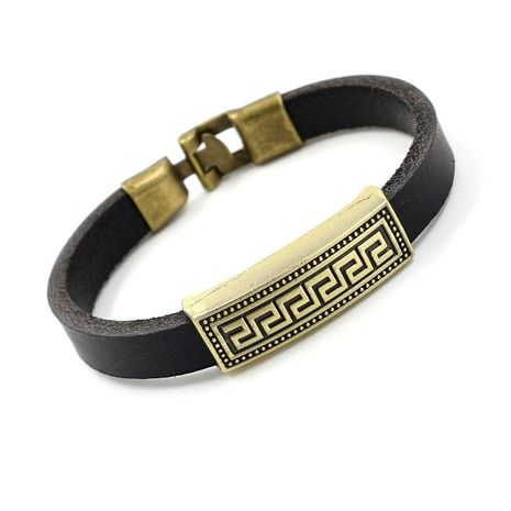 Unisex Geometric Alloy Ornamental Leather Bracelets & Bangles HM190411116728's discount tags
