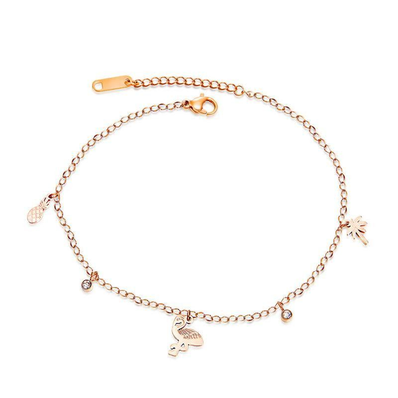 Womens geometrically plated titanium steel Wild Bracelets & Bangles OP190411116752
