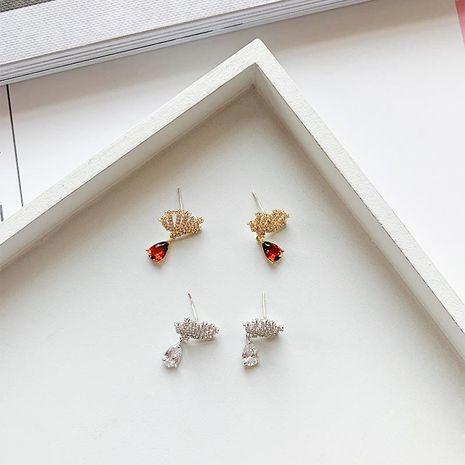 Womens Animals / Zodiac Zircon Copper Tong Earrings YT190411116790's discount tags