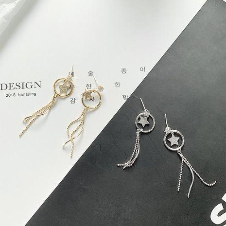 Womens Star Zircon Copper Yan   Earrings YT190411116796's discount tags