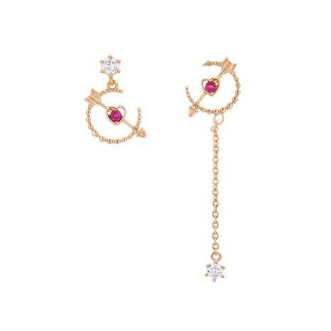 Womens arrow zircon copper Tong  Earrings YT190411116801's discount tags