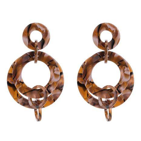 Womens Geometric Wild wrap Acrylic Earrings YT190411116803's discount tags