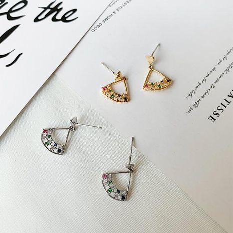 Womens geometric zircon copper TongEarrings YT190411116817's discount tags
