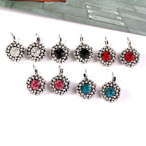 Womens Geometric Rhinestone Alloy Earrings KQ190411116824's discount tags