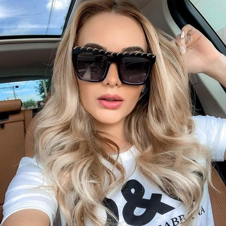 Gafas de sol cuadradas, gafas punk femeninas. FY190412116881's discount tags