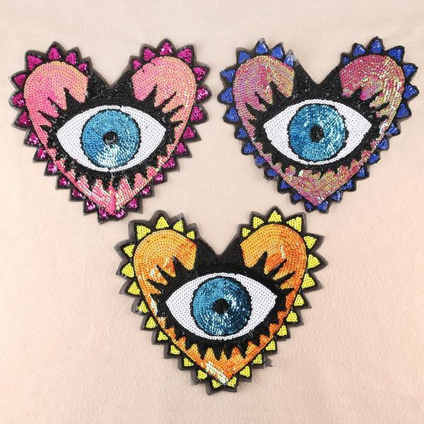 Cool new love sequins cloth stickers DX190412116942