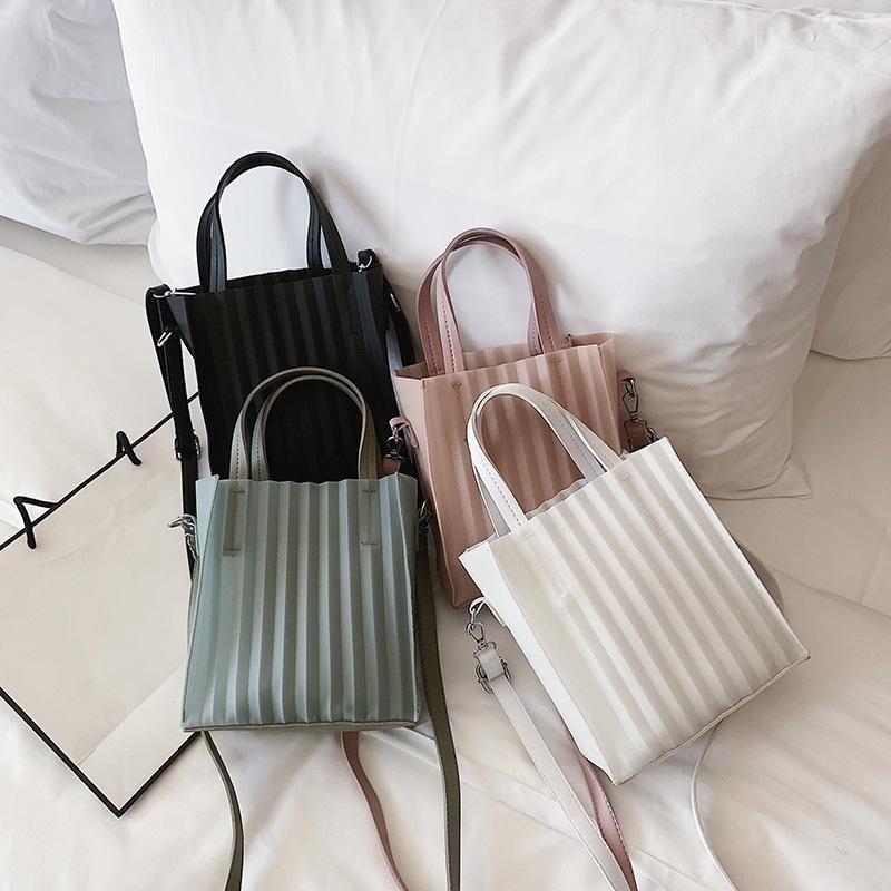 Transparent material portable tote bag XC190413117249