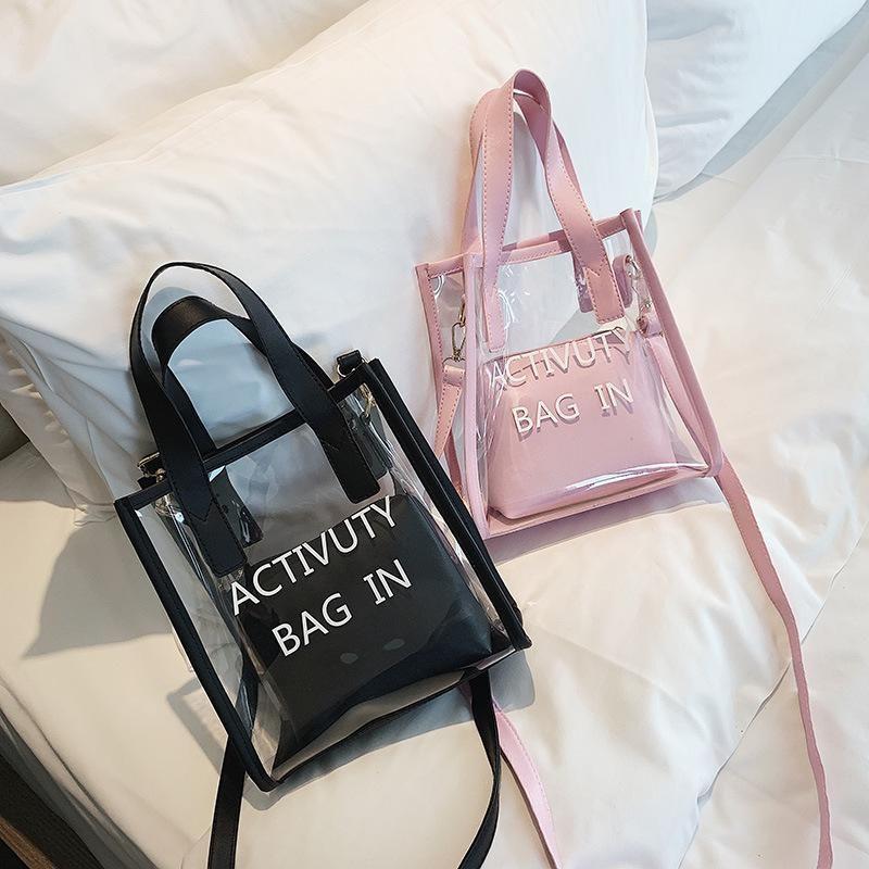 New wave Korean version of diagonal shoulder bag ins super fire jelly child handbag XC190413117258