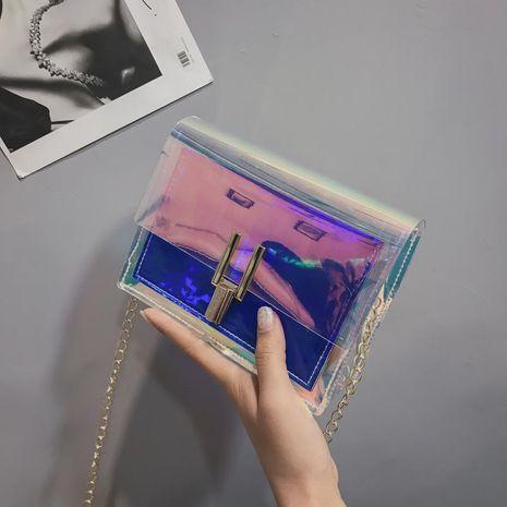 Korean fashion mini handbags wild laser Messenger bag tide jelly chain shoulder bag XC190413117280's discount tags