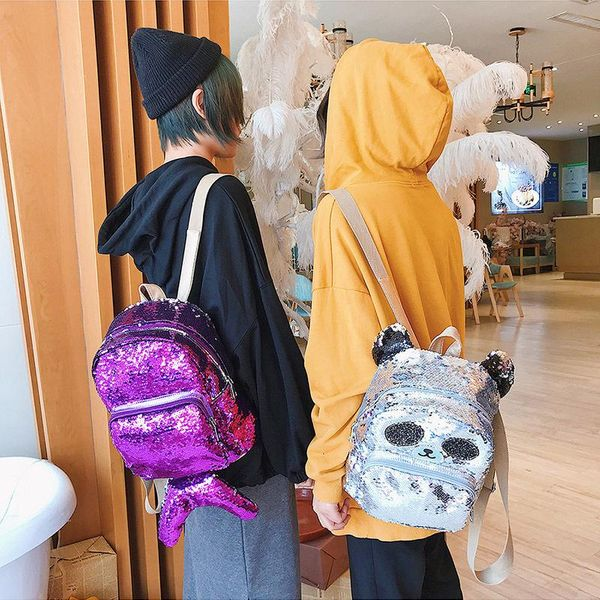 Funny personality children s laser backpack HX190413117332