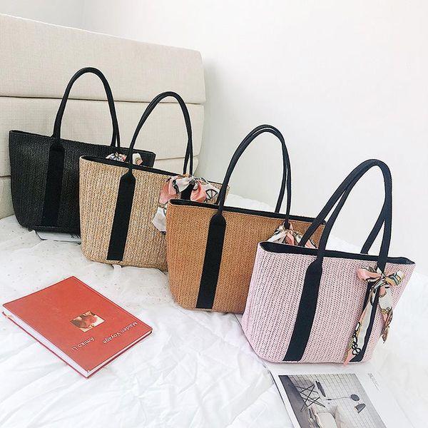 PU New Korean version of the summer wild portable woven bag fashion large capacity tote bag LD190413117388