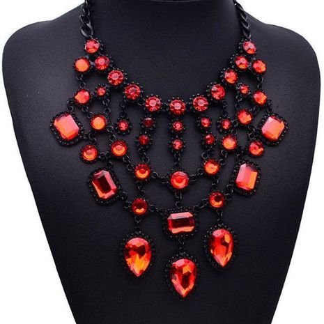 Womens geometric rhinestone alloy Necklaces JQ190416117439's discount tags
