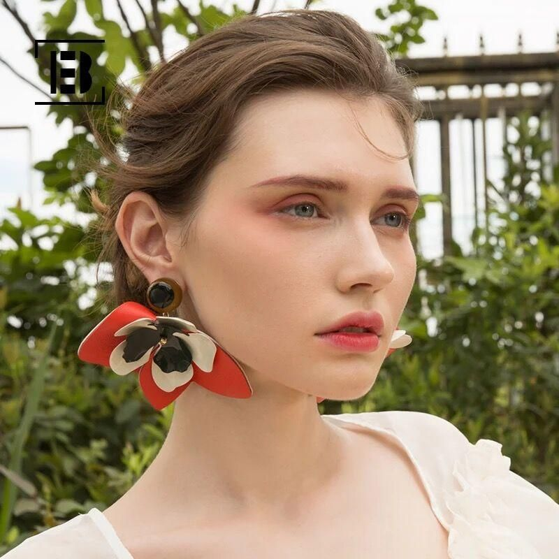 Womens Floral Hand Braided Alloy JQ Earrings JQ190416117445