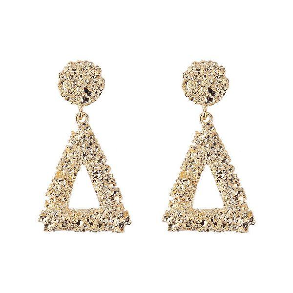 Womens Geometric Painted Metal Earrings JQ190416117458