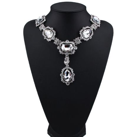 Womens Floral Rhinestone Necklaces JQ190416117459's discount tags