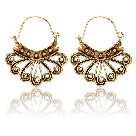 Womens  Fashion creative retro openwork peacock basket buckle Earrings GY190416117577's discount tags