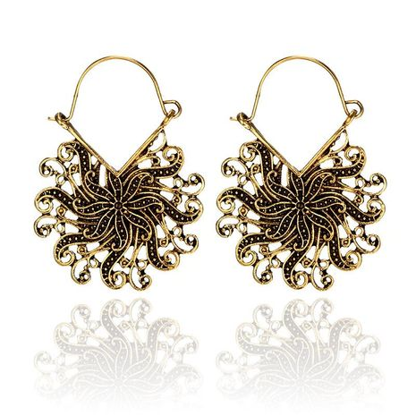 Womens Fashion vintage openwork flower peacock Earrings GY190416117580's discount tags