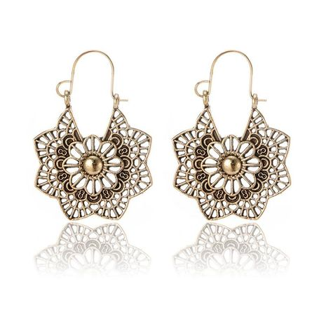 Womens Alloy  Creative vintage alloy geometric openwork flowers Earrings GY190416117589's discount tags