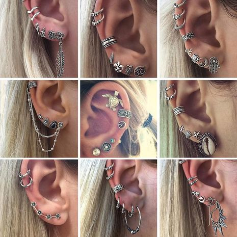Womens  Retro bohemian combination Alloy Earrings GY190416117606's discount tags