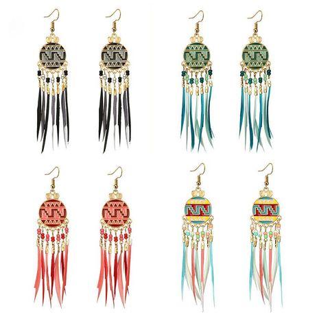 Femmes géométrie alliage galvanoplastie Vintage style ethnique palais boucles d'oreilles gland coloré boucles d'oreilles GY190416117612's discount tags